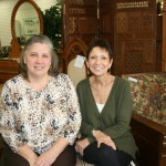 UCAN Executive Director Malanie Corwin (L) with ESCC's Judy Dunning